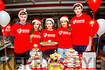 Pupils from the Community College, Castleisland who organised a cake sale for the Irish Heart Foundation and one of the pupils,Thomas Murphy is shaving his head also to raise funds for the Irish Heart Foundation. Pictured l-r  Jason Brown, Kayleigh Hooley, Saoirse Casey, Cara  Twomey and Thomas Murphy at the Castleisland Christmas Craft Fair in the River Island Hotel on Saturday