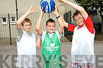 Having fun at the Killarney Basketball Camp last Friday. <br /> L-R James Moynihan, Ryan O'Grady and Matthew Gallagher.