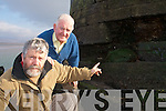 LIGHTHOUSE: John Breen and Cllr Johnny O'Connor who are concerned about the Point Tower, which has been damaged by erosion on Rossbeigh beach.   Copyright Kerry's Eye 2008