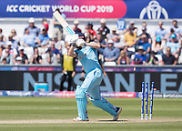 Jonny Bairstow (England) is bowled by Matt Henry during England vs New Zealand, ICC World Cup Cricket at The Riverside Ground on 3rd July 2019