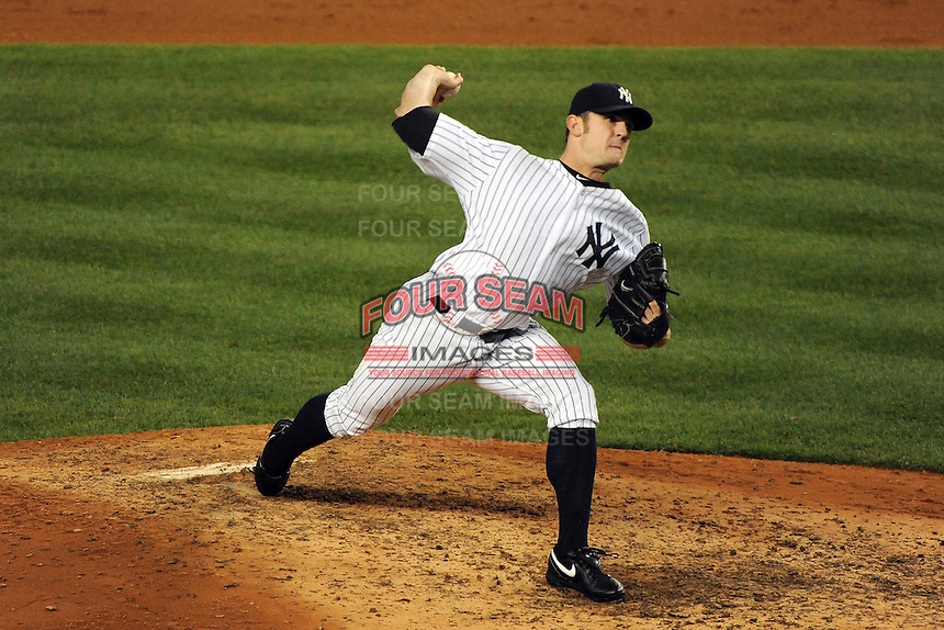 New York Yankees pitcher David Robertson #30 during ALDS game #5 against the Detroit Tigers at Yankee Stadium on October 06, 2011 in Bronx, NY.  Detroit defeated New York 3-2 to take the series 3 games to 2 games.  Tomasso DeRosa/Four Seam Images