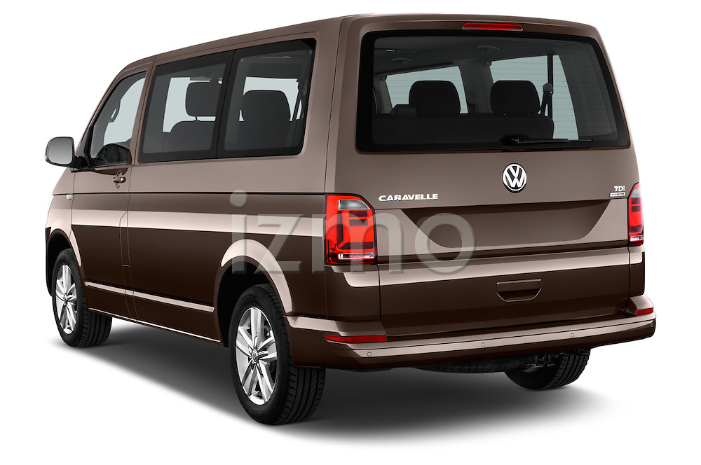 Car pictures of rear three quarter view of 2016 Volkswagen Caravelle Comfortline 5 Door Minivan Angular Rear
