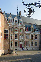 Belgique, Flandre-Occidentale, Bruges, centre historique classé Patrimoine Mondial de l'UNESCO, musée Gruuthuse, bâtiment du XVe siècle  // Belgium, Western Flanders, Bruges, historical centre listed as World Heritage by UNESCO, Gruuthuse Museum, building dated 15th century