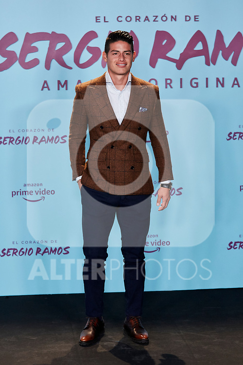 "James Rodriguez attends to ""El Corazon De Sergio Ramos"" premiere at Reina Sofia Museum in Madrid, Spain. September 10, 2019. (ALTERPHOTOS/A. Perez Meca)"