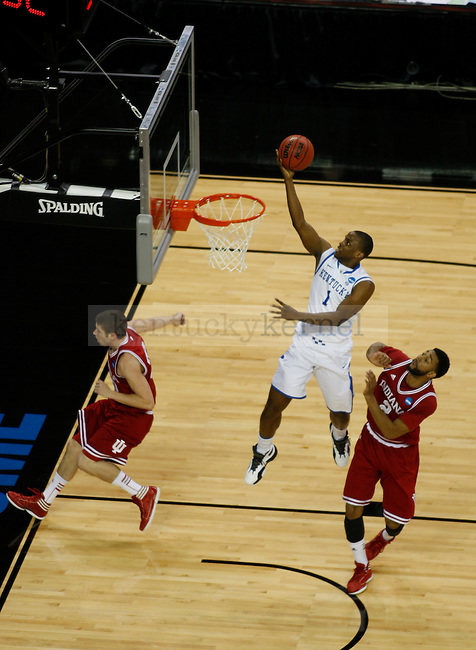 Darius Miller takes a shot in the first half of the regional of the NCAA Tournament, in the Georgia Dome, on Friday, March 23, 2012 in Atlanta, Ga.. Photo by Latara Appleby | Staff. Photo by Latara Appleby | Staff ..
