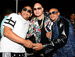 MIAMI, FL - JULY 10: Fat Joe (C) and Gente de Zona attend Iron Mike Judgement Day boxing match at AmericanAirlines Arena on July 10, 2014 in Miami, Florida.  (Photo by Johnny Louis/jlnphotography.com)