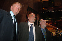***FILE PHOTO*** Court Clears Way To Pay Out $25 Million in Settlement With Former Trump University Students***<br /> Donald Trump announces his plans for a Trump University at a press conference held at Trump Tower. New York City on May 23, 2005. <br /> CAP/MPI/DVT<br /> &copy;DVT/MPI/Capital Pictures