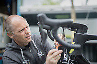 mechanic at work<br /> <br /> Team Orica-Scott 1 day from the start of the 104th Tour de France 2017 at &quot;Le Grand D&eacute;part&quot; in D&uuml;sseldorf/Germany