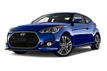 Stock pictures of low aggressive front three quarter view of 2017 Hyundai Veloster Turbo-Manual 5 Door Hatchback Low Aggressive