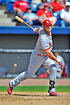 12 March 2012: St. Louis Cardinals outfielder Matt Holliday in action during a Spring Training game against the Washington Nationals at Space Coast Stadium in Viera, Florida. The Nationals defeated the Cardinals 8-4 in Grapefruit League play. Mandatory Credit: Ed Wolfstein Photo