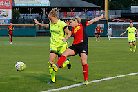Rochester, NY - Saturday July 09, 2016: Elli Reed, McCall Zerboni during a regular season National Women's Soccer League (NWSL) match between the Western New York Flash and the Seattle Reign FC at Frontier Field.