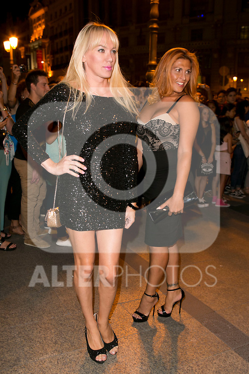 Topacio Fresh and Lara Sajen attends the party of Nike and Roberto Tisci at the Casino in Madrid, Spain. September 15, 2014. (ALTERPHOTOS/Carlos Dafonte)