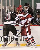 Mark Bennett (Union - 10), Danny Biega (Harvard - 9) - The Union College Dutchmen defeated the Harvard University Crimson 2-0 on Friday, January 13, 2012, at Fenway Park in Boston, Massachusetts.