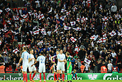 5th October 2017, Wembley Stadium, London, England; FIFA World Cup Qualification, England versus Slovenia; England fans celebrate as England qualify for the World Cup