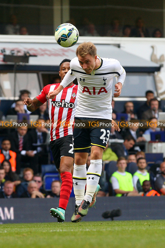 Christian Eriksen of Tottenham Hotspur and Nathaniel Clyne of Southampton - Tottenham Hotspur vs Southampton - Barclays Premier League action at the White Hart Lane Stadium on 05/10/2014 - MANDATORY CREDIT: Dave Simpson/TGSPHOTO - Self billing applies where appropriate - 0845 094 6026 - contact@tgsphoto.co.uk - NO UNPAID USE