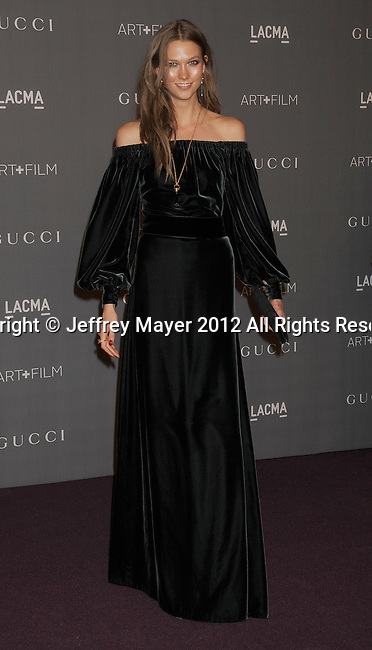 LOS ANGELES, CA - OCTOBER 27: Karlie Kloss arrives at LACMA Art + Film Gala at LACMA on October 27, 2012 in Los Angeles, California.