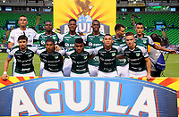 PAMIRA-COLOMBIA, 05-06-2019: Jugadores de Deportivo Cali, posan para una foto, antes de partido entre Deportivo Cali y Deportes Tolima, de la fecha 6 de los cuadrangulares semifinales por la Liga Águila I 2019 jugado en el estadio Deportivo Cali (Palmaseca) de la ciudad de Palmira. / Players of America de Cali, pose for a photo, priora match between Deportivo Cali and Deportes Tolima, of the 6th date of the semifinals quarters for the Aguila Leguaje I 2019 at the Deportivo Cali (Palmaseca) stadium in Palmira city. Photo: VizzorImage / Nelson Ríos / Cont.
