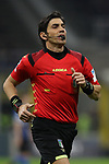 The referee Gianpaolo Calvarese during the Coppa Italia match at Giuseppe Meazza, Milan. Picture date: 12th February 2020. Picture credit should read: Jonathan Moscrop/Sportimage