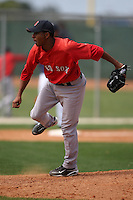 March 18, 2010:  Pitcher Charlie Rosario of the Boston Red Sox organization during Spring Training at Ft.  Myers Training Complex in Fort Myers, FL.  Photo By Mike Janes/Four Seam Images