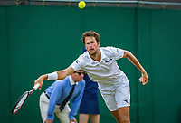 London, England, 5 th. July, 2018, Tennis,  Wimbledon, Men's singles, Robin Haase (NED)<br /> Photo: Henk Koster/tennisimages.com