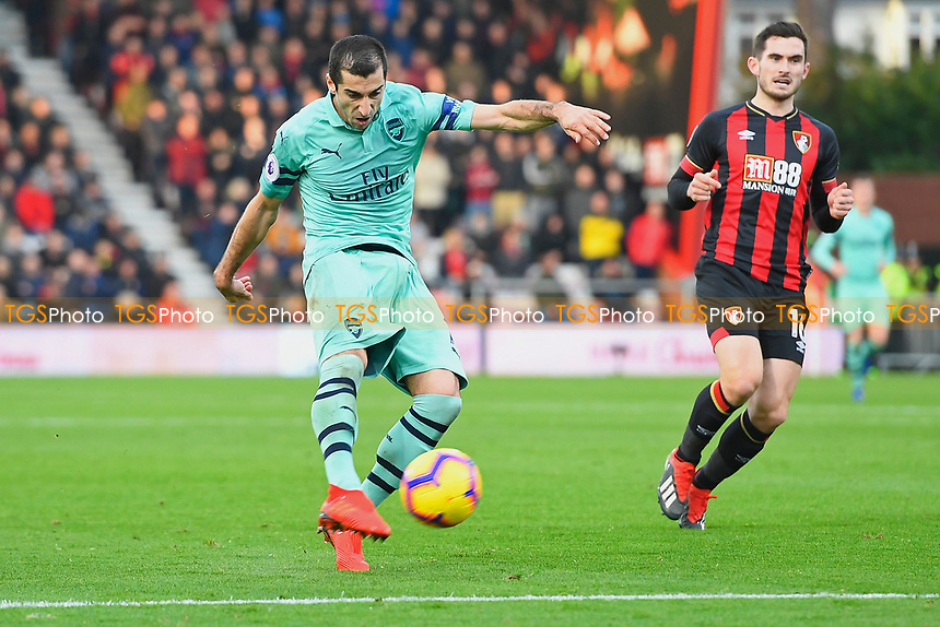 Henrikh Mkhitaryan of Arsenal has a shot on goal during AFC Bournemouth vs Arsenal, Premier League Football at the Vitality Stadium on 25th November 2018