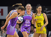 Leana de Bruin reacts to an umpire's call during the ANZ Premiership netball match between the Central Pulse and Northern Stars at TSB Bank Arena in Wellington, New Zealand on Monday, 8 May 2017. Photo: Dave Lintott / lintottphoto.co.nz