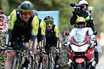 Mitchelton-Scott including Adam Yates (GBR) in action during Stage 2 of the 2019 Tour de France a Team Time Trial running 27.6km from Bruxelles Palais Royal to Brussel Atomium, Belgium. 7th July 2019.<br /> Picture: Colin Flockton | Cyclefile<br /> All photos usage must carry mandatory copyright credit (© Cyclefile | Colin Flockton)