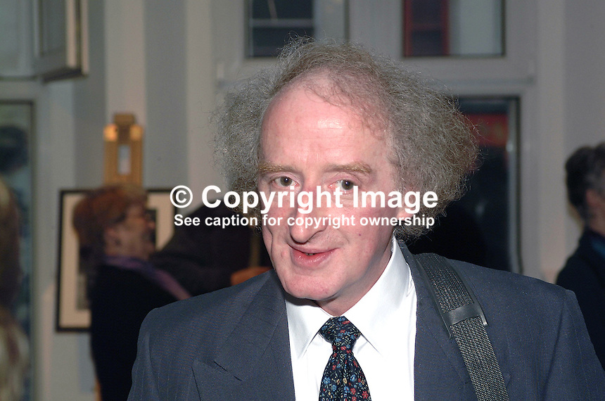Bobbie Hanvey, photographer, journalist, broadcaster, author, musician, N Ireland, UK, 200204055026..Copyright Image from Victor Patterson, 54 Dorchester Park, Belfast, UK, BT9 6RJ..Tel: +44 28 9066 1296.Mob: +44 7802 353836.Voicemail +44 20 8816 7153.Skype: victorpattersonbelfast.Email: victorpatterson@mac.com.Email: victorpatterson@ireland.com (back-up)..IMPORTANT: If you wish to use this image or any other of my images please go to www.victorpatterson.com and click on the Terms & Conditions. Then contact me by email or phone with the reference number(s) of the image(s) concerned.