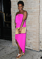 NEW YORK CITY, NY, USA - SEPTEMBER 03: Vicky Jeudy arrives at the Flaunt Magazine Distress Issue Launch held at Gilded Lily on September 3, 2014 in New York City, New York, United States. (Photo by Jeffery Duran/Celebrity Monitor)