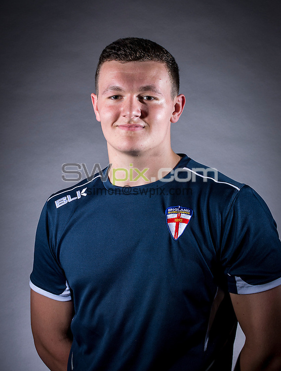 Picture by Allan McKenzie/SWpix.com - 29/06/16 - Rugby League - England Rugby League Academy Headshots - Challenge4Change, Manchester, England - Callum Field.