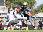 Palos Verdes, CA 09-07-18 - Mason O'Connor (Peninsula #24) and Jimmy Prahl (Torrance #4) in action during the Torrance - Palos Verdes Peninsula Varsity football game.