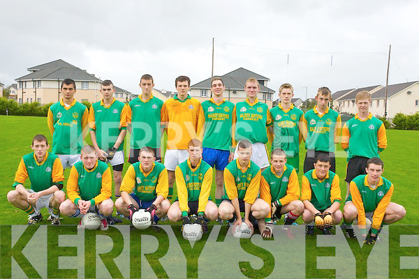 Tarbert Comperhensive Secondry School who played Kenmare in the first round of the O'Sullivan Cup in Healy park, Ballyrickard, on Wednesday. Front l-r: Gerald, O'Sullivan, Jimmy Mahoney, Matt O'Connor, Timmy Noonan, Steven Carroll, Evan Allen,Michea?l Carrig and Gero?id Kissane. Back l-r: PJ Reynolds, Edmund Sweeney, Brendan garvey, Brendan Galvin, Timmy O'Sullivan, Shane Stack (capt), Kevin Moore, Sean Keane and PJ Stack.  .............