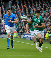 Saturday 10th February 2018 | Ireland vs Italy<br /> <br /> Conor Murray races clear to score during the Six Nations Rugby Championship match between Ireland and Italy at the Aviva Stadium, Lansdowne Road,  Dublin Ireland. Photo by John Dickson / DICKSONDIGITAL