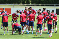 The england players during an open England football team training session at Stade Omnisport, Croissy sur Seine, France  on 12 June 2017 ahead of England's friendly International game against France on 13 June 2017. Photo by David Horn/PRiME Media Images.