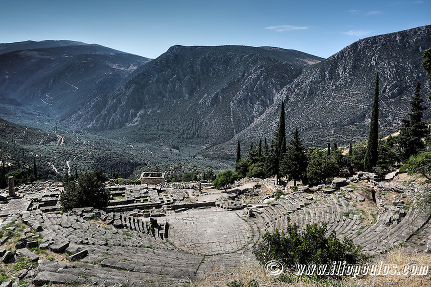 Ancient Theatre (4th cent. B.C.) in Delphi, Greece