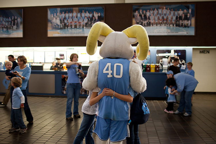 Rameses has a posse - UNC vs Mississippi Valley State at the Dean Smith Center, Chapel Hill, NC, Sunday, November 20, 2011. .
