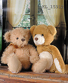 Interlitho, Alberto, CUTE ANIMALS, teddies, photos, 2 teddies, window(KL15912,#AC#)