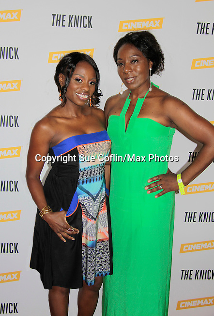 Delaina Dixon (also The Gossip Table) and Maureen Tokeson-Martin (both - Diva Gals Daily) at The Knick - on Cinemax - premiering Aug 8, 2014 - starring Andre Holland, Leon Addison Brown, David Fierro and more on July 23, 2014 at NY Academy of Medicine , New York City, New York.  (Photo by Sue Coflin/Max Photos)