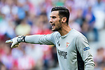 Goalkeeper Sergio Rico of Sevilla FC reacts during the La Liga 2017-18 match between Atletico de Madrid and Sevilla FC at the Wanda Metropolitano on 23 September 2017 in Madrid, Spain. Photo by Diego Gonzalez / Power Sport Images