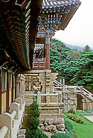 So. Korea: Kyong-Ju--Bulgug-sa Temple. Panoramic view. Photo '81.