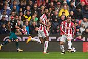 30th September, bet365 Stadium, Stoke-on-Trent, England; EPL Premier League football, Stoke City versus Southampton; Stoke City's Xherdan Shaqiri passes the ball