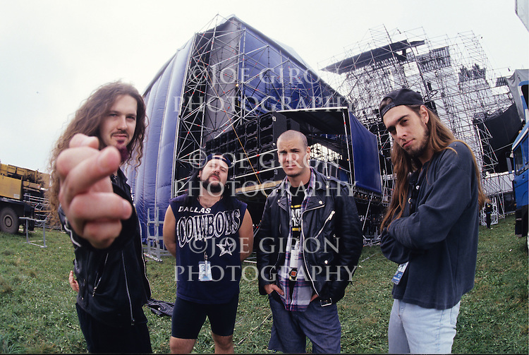 Various portrait sessions and live photographs of the rock band, Pantera. Dimebag Darrell Abbott (Guitar), Philip Anselmo (Vocals), Rex Brown (Bass) & Vinnie Paul (Drums).