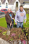 TIDY TOWNS: Tony McSweeney (Community Council) and Gerard Burke (CE Supervisor) planting flowers in Glenbeigh in preparation for this year's Tidy Towns competition.