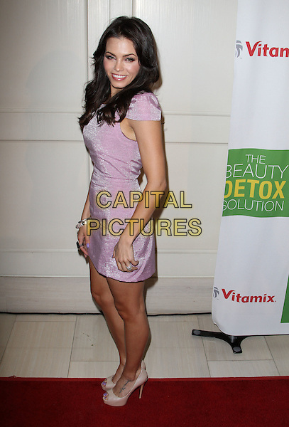 "JENNA DEWAN.Book Launch Party For ""The Beauty Detox Solution"" Held At The London Hotel, West Hollywood, California, USA..April 13th, 2011.full length dress side lilac purple beige nude peep toe shoes bracelets silver .CAP/ADM/KB.©Kevan Brooks/AdMedia/Capital Pictures."