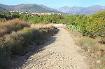 Ruta del Emperador, Route of the Emperor footpath, view to Aldeanueva de la Vera, Extremadura, Spain