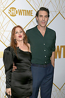 LOS ANGELES - SEP 21:  Isla Fisher, Sacha Baron Cohen at the Showtime Emmy Eve Party at the San Vicente Bungalows on September 21, 2019 in West Hollywood, CA
