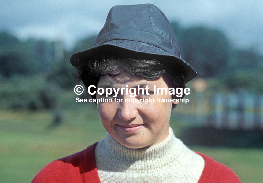 Elizabeth-Ann McGregor,golfer, amateur, Massareene, Co Antrim, N Ireland, 196908000229a<br />