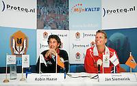 10-9-07, Rotterdam, Euromast, Persconferentie Davis Cup, Captain Jan Siemerink en Robin Haase