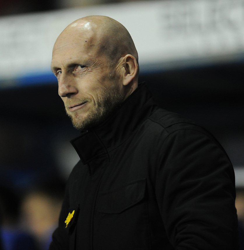 Reading manager Jaap Stam <br /> <br /> Photographer Kevin Barnes/CameraSport<br /> <br /> The EFL Sky Bet Championship - Reading v Bolton Wanderers - Tuesday 6th March 2018 - Madejski Stadium - Reading<br /> <br /> World Copyright &copy; 2018 CameraSport. All rights reserved. 43 Linden Ave. Countesthorpe. Leicester. England. LE8 5PG - Tel: +44 (0) 116 277 4147 - admin@camerasport.com - www.camerasport.com