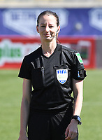 20190301 - LARNACA , CYPRUS : assistant referee Susanne Kung pictured during a women's soccer game between Finland and Czech Republic , on Friday 1 March 2019 at the AEK Arena in Larnaca , Cyprus . This is the second game in group A for Both teams during the Cyprus Womens Cup 2019 , a prestigious women soccer tournament as a preparation on the Uefa Women's Euro 2021 qualification duels. PHOTO SPORTPIX.BE | DAVID CATRY